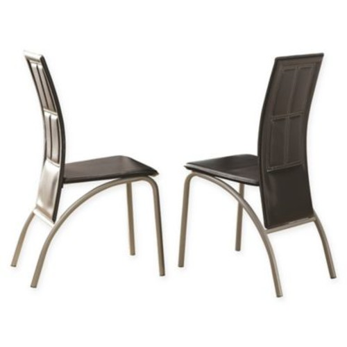 Steve Silver Co. Calvin Dining Side Chair in Black (Set of 4)