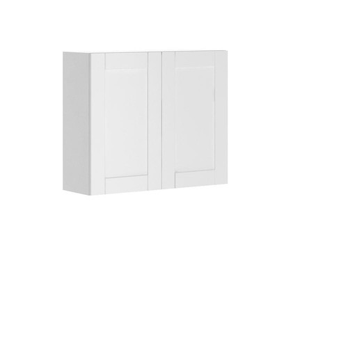Eurostyle Ready to Assemble 36x30x12.5 in. Oxford Wall Thermofoil Cabinet with Full Height Doors in Warm White