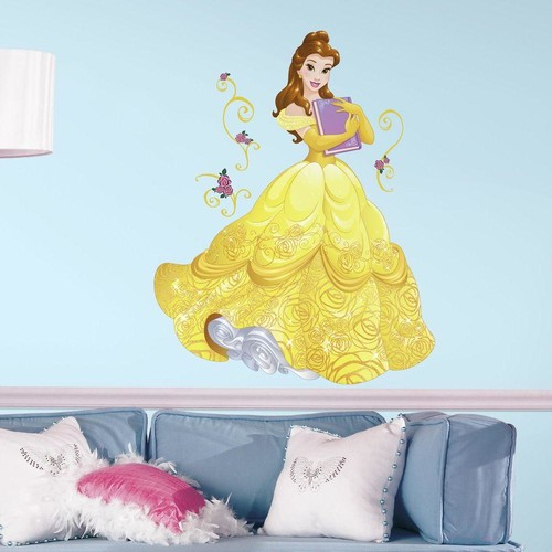 RoomMates 2.5 in. x 27 in. Disney Sparkling Belle 13-Piece Peel and Stick Giant Wall Decal