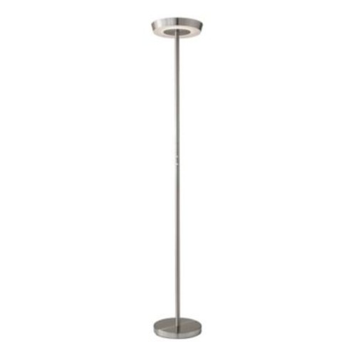 Adesso Halo Torchiere Floor Lamp in Brushed Steel