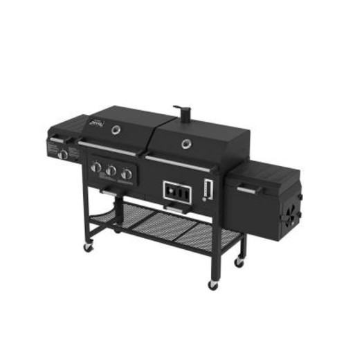 Smoke Hollow Deluxe 3-Burner Combination BBQ Propane Gas Grill