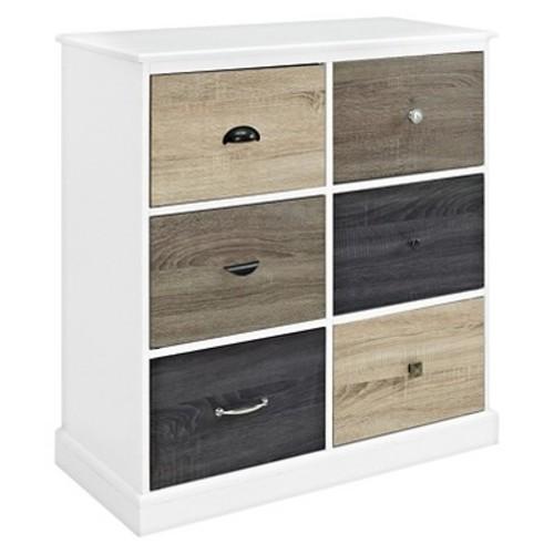Mercer 6 Door Storage Cabinet with Door Fronts - White - Ameriwood Home