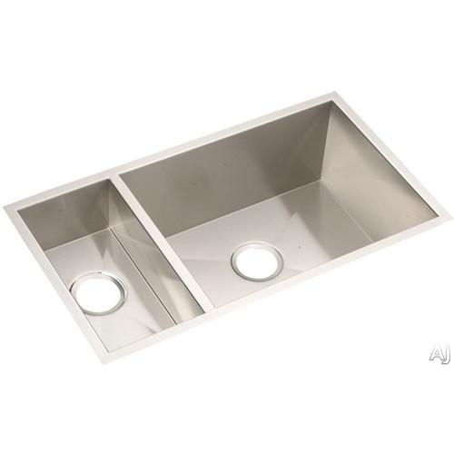 Elkay EFU321910 Avado Undermount Bowl Double Basin Kitchen Sink, Stain