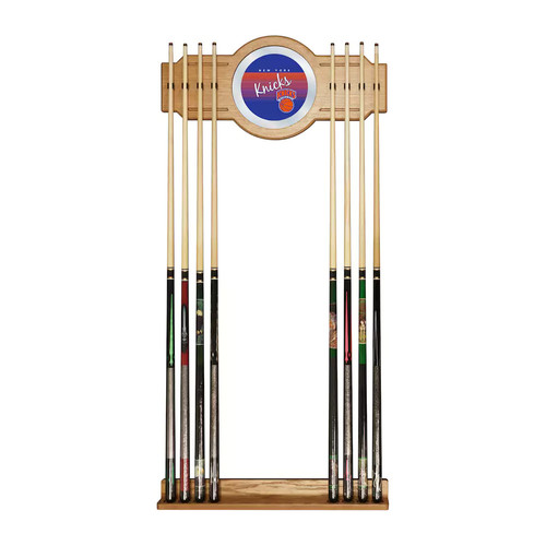 York Knicks Hardwood Classics Billiard Cue Rack with Mirror