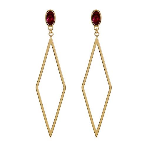 Dez Diamond-Shape Drop Earrings