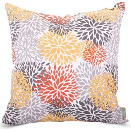 Majestic Home Goods Citrus Blooms Extra Large Decorative Pillow, 24
