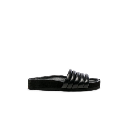 Isabel Marant Hellea Padded Leather Sandals in Black
