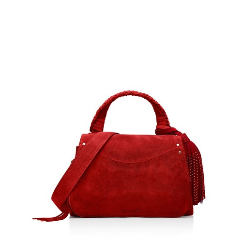 ELIZABETH AND JAMES Trapeze Small Suede Crossbody