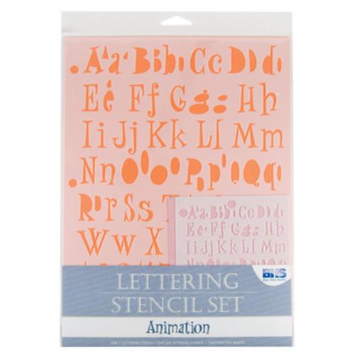 Animation Lettering Stencil Set