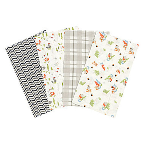 Trend Lab Woodsy Gnomes Flannel Burp Cloth