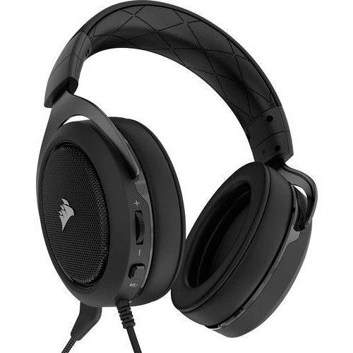 CORSAIR - HS60 Wired Stereo Gaming Headset for PC, Xbox One, PlayStation 4, Nintendo Switch and Mobile Devices - Carbon