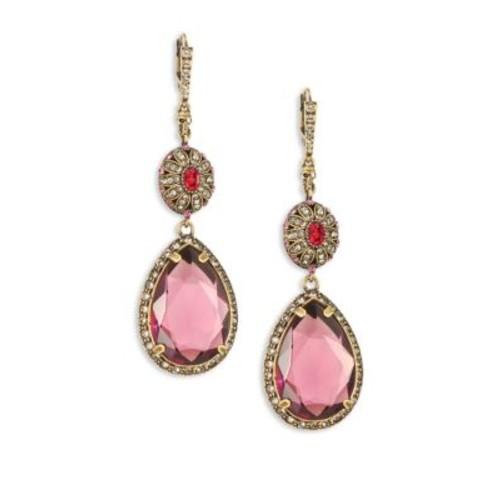 Crystal Double-Drop Earrings