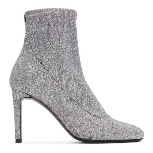GIUSEPPE ZANOTTI Silver Bimba Stretch Lurex Boots