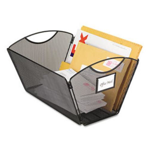 Safco Products (Price/EA)SAFCO PRODUCTS SAF2163BL Onyx Mesh Desktop Tub File Storage Box, Legal, Black