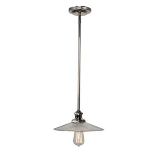 Kenroy Home Ancestry Small 1-Light Pendant Ceiling Fixture in Polished Nickel