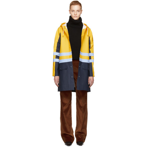 MARNI Yellow & Navy Stutterheim Edition Colorblock Raincoat