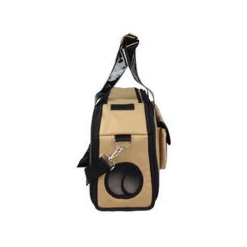 Pet Life Airline Approved Mystique Fashion Pet Carrier Brown, Medium