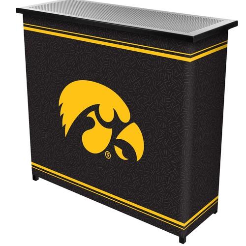 Trademark Global University of Iowa 2 Shelf Portable Bar With Case