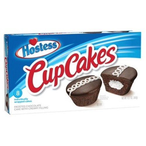 Hostess Cream Filled Cupcakes - 8ct