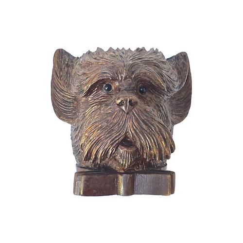 Antique Black Forest Terrier Dish