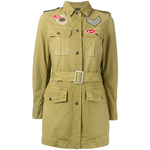 MR & MRS ITALY Belted Military Style Jacket