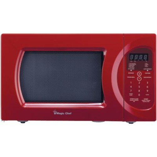 Magic Chef 0.9 cu ft Microwave Oven, Red