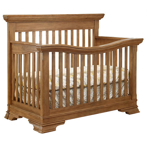 Lusso Nursery Manchester Collection 4-in-1 Convertible Crib and Mini Rail - Vintage Frost