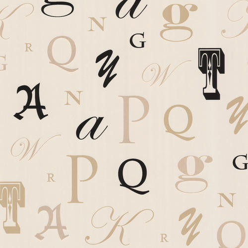 Manuscript Beige Letter Font Wallpaper