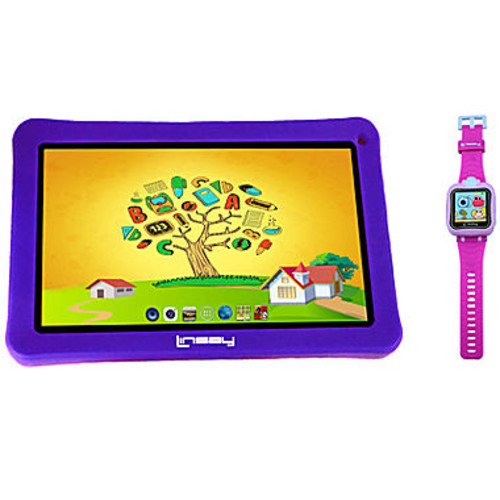 LINSAY Kids Bundle with Pink Kids Smartest Watch on Earth with Camera and 7
