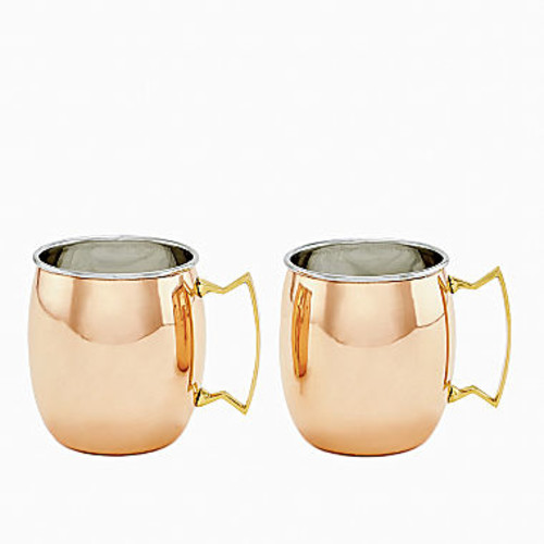 Dutch Two Ply Solid Copper and Stainless Steel16 Oz Moscow Mule Mugs Set of 2