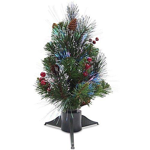 National Tree Company 18-Inch Crestwood Spruce Fiber Optic Christmas Tree