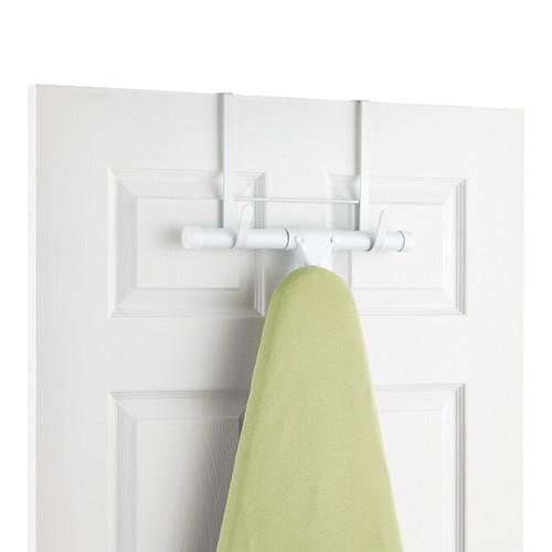 White Over the Door Ironing Board Hanger