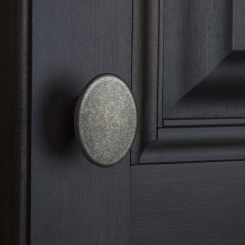 GlideRite 1.5-inch Aged Pewter Oval Cabinet Knobs (Pack of 10 or 25) [option : Aged Pewter - Pack of 10]