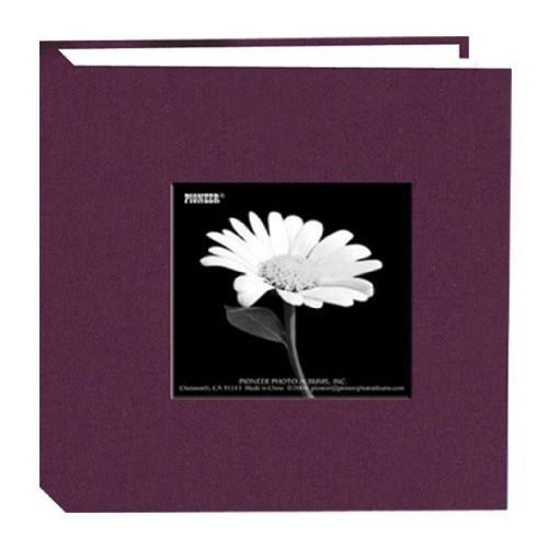 Pioneer 100 Pocket Fabric Frame Cover Photo Album, Wildberry Purple