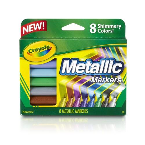 Crayola Metallic Markers, 8 shiny colors