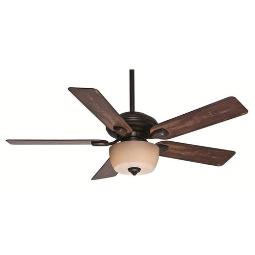 Casablanca Fan Utopian 52-inch Brushed Cocoa (Damp Listed) with 5 Distressed Antique Halifax Blades