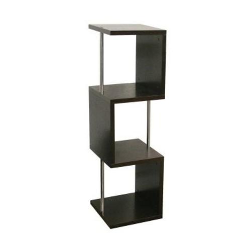 Baxton Studio Cornelia Modern Display Shelf, Tall, Dark Brown