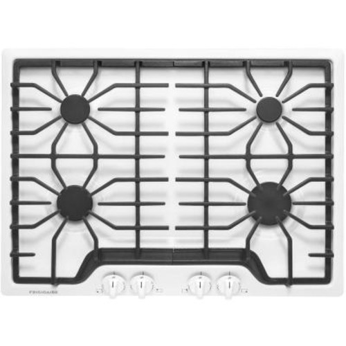 Frigidaire 30 in. Gas Cooktop in White with 4 Burners
