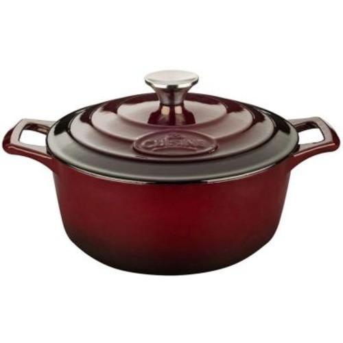 La Cuisine Pro 2.2 Qt. Cast Iron Round Casserole with Ruby Enamel