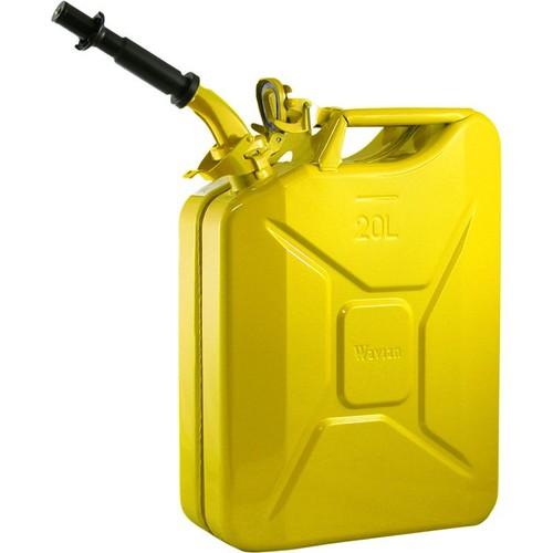 Wavian Leakproof Steel Gas Can  20-Liter, Yellow, Model# 3011