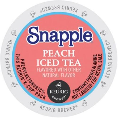 Keurig K-Cup Snapple Iced Tea, Peach, 22/Pack