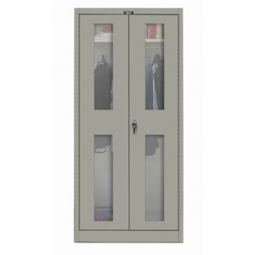 Hallowell 400 Series 78''H x 48''W x 24''D Armoire Storage Cabinet; Hallowell Gray