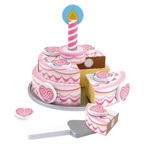 Melissa & Doug Triple-Layer Party Cake Wooden Play Food Set