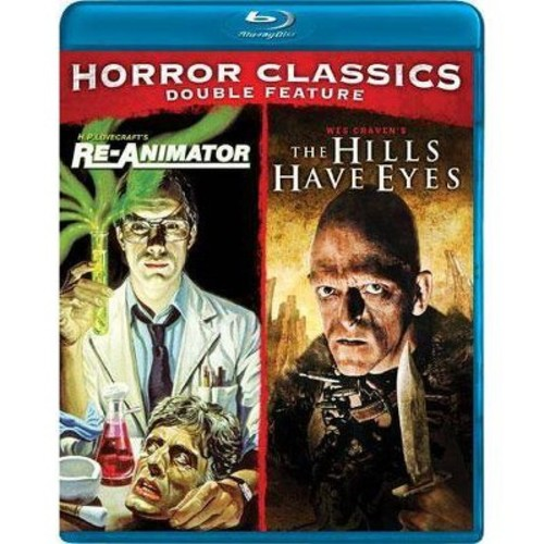 Horror Classics Double Feature: Re-Animator/The Hills Have Eyes [2 Discs] [Blu-ray]