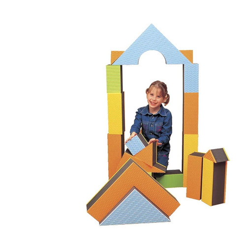 Edushape Jumbo Textured Block Set, Large Thickness