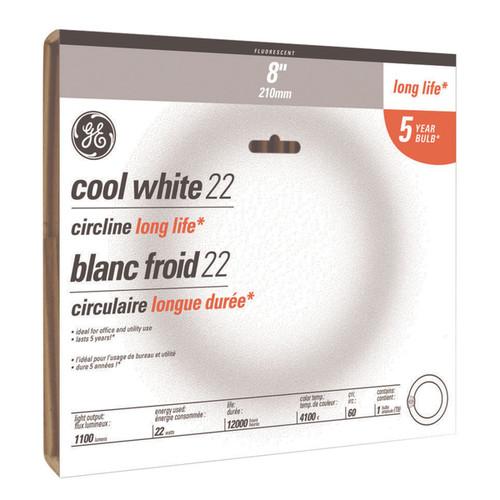 GE Lighting 33890 32 Watt Cool White Compact Fluorescent Circline Light Bulbs