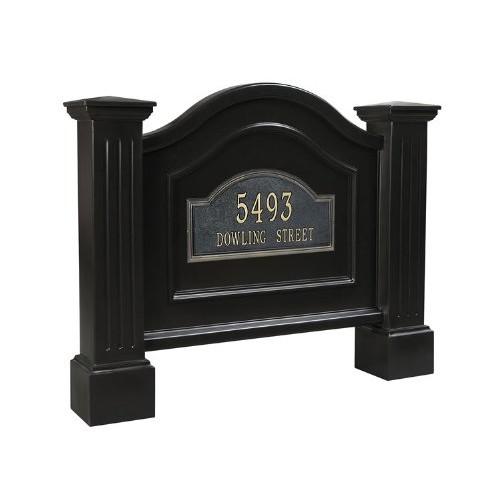 Mayne 5820-BK Nantucket Address Sign, Black [Black]