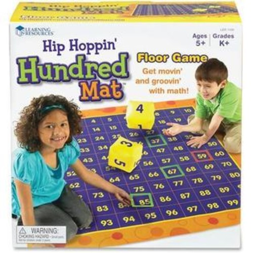 Learning Resources LER1100- Hip Hoppin Hundred Mat (LER1100) - Theme/Subject: Learning - Skill Learning: Number, Counting, Patte