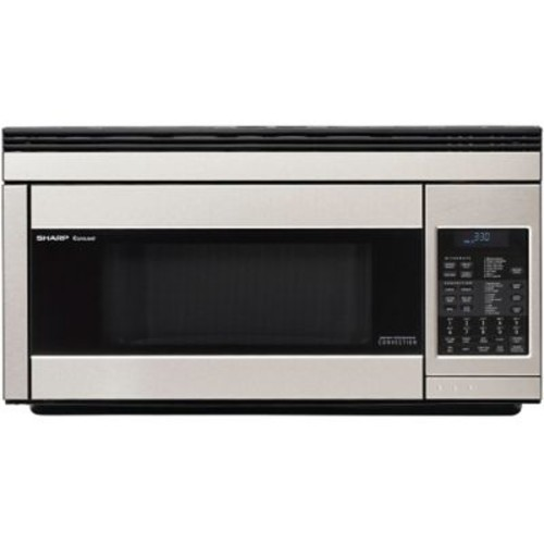 Sharp 1.1 cu. ft. Over The Range Convection Specialty Microwave Oven, 850 W, Stainless Steel
