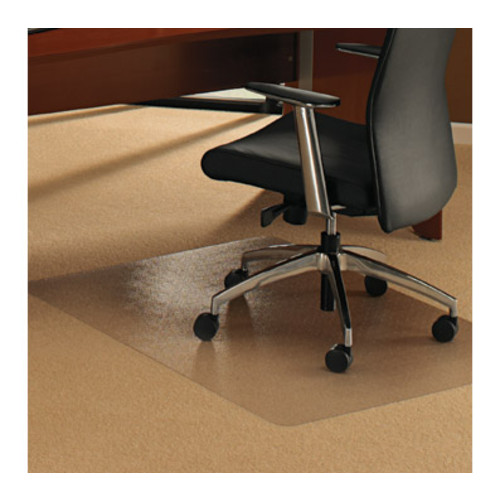 Floortex ClearTex Ultimat Polycarbonate Chair Mat for Plush Pile Carpets, Clear